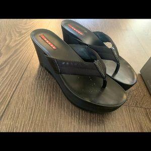 Authentic Prada platform sandals size 37